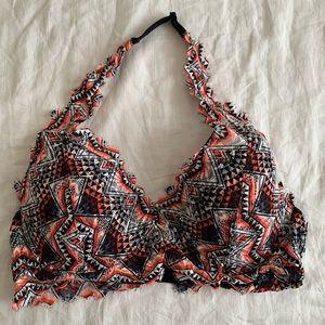Tribal Print Lace Bralette